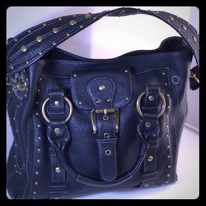 4 Compartment Leather Betsy Johnson Black Handbavg